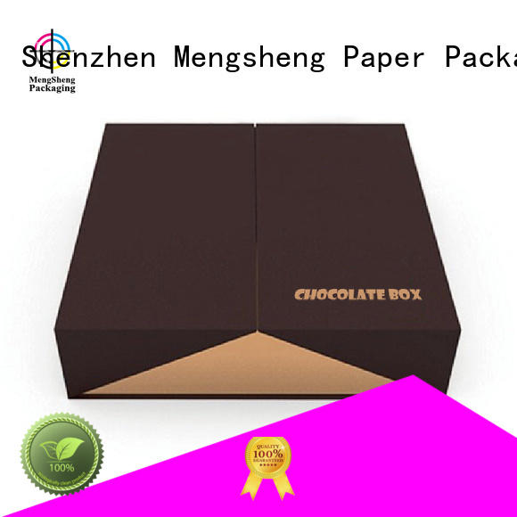 paper gift ribbon OEM fudge boxes Mengsheng