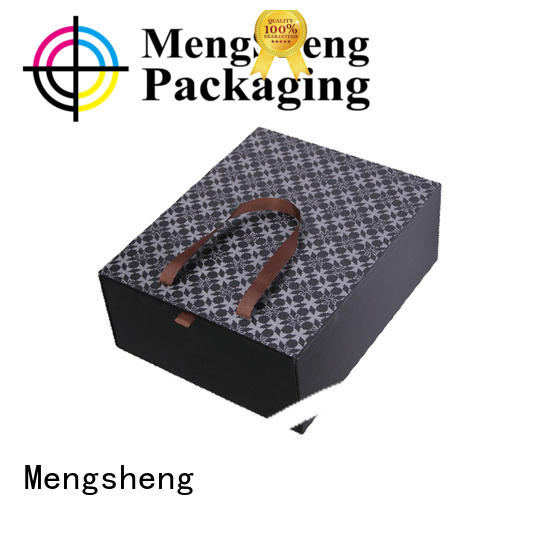 Mengsheng imprinted green gift box rectangular for wholesale