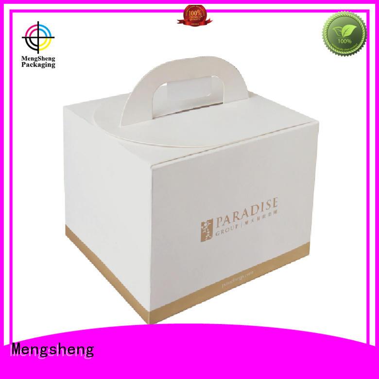 cake Custom box boxes cupcake packaging Mengsheng printed