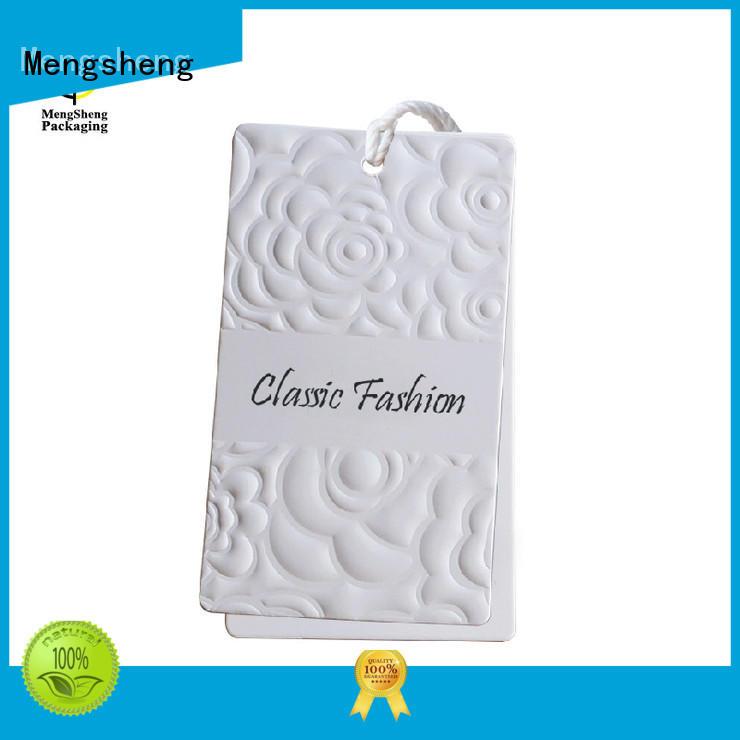 tshirt professional printed hang Mengsheng Brand paper tags supplier