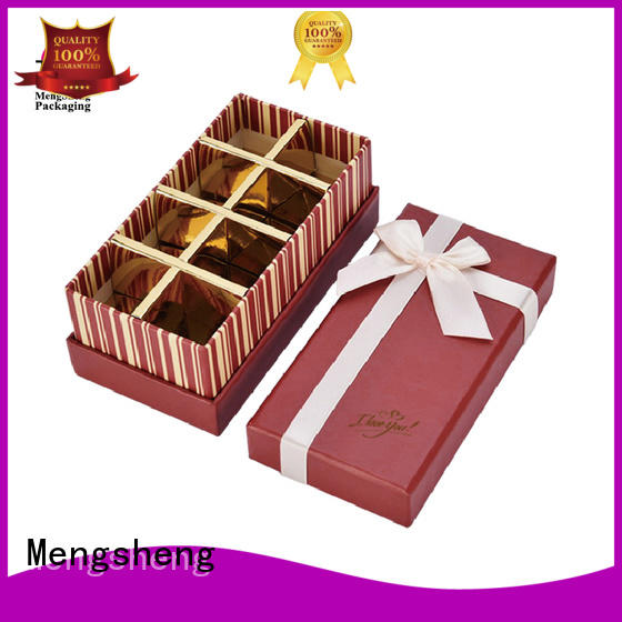 chocolate packaging box professional fancy fudge boxes empty Mengsheng Brand