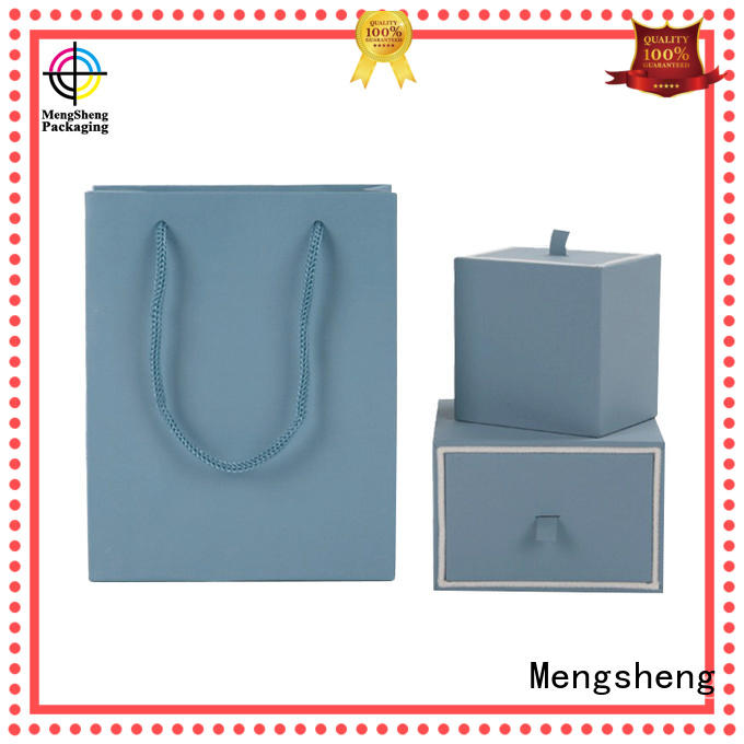 Mengsheng Brand lid specialty custom jewelry gift boxes