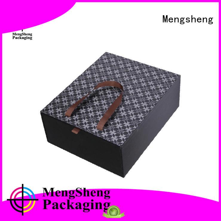 paper handle cardboard gift boxes magnetic Mengsheng