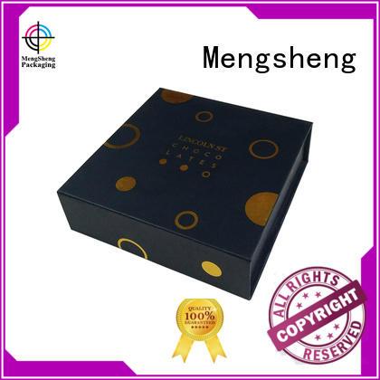 Mengsheng hot-sale magnetic hide box folding design for fruit packaging