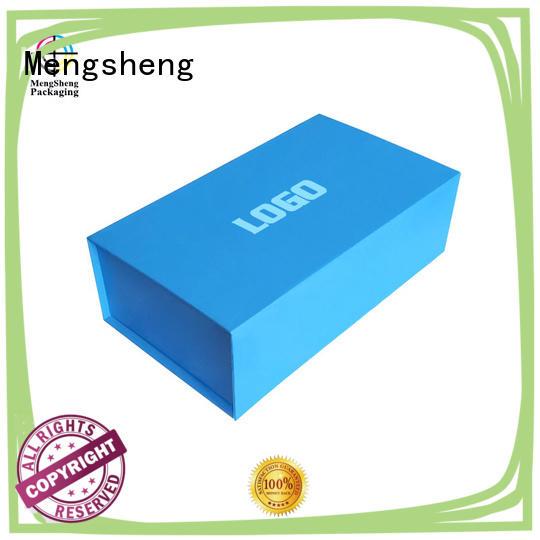 Mengsheng luxury folding box design easy closure swimwear packing