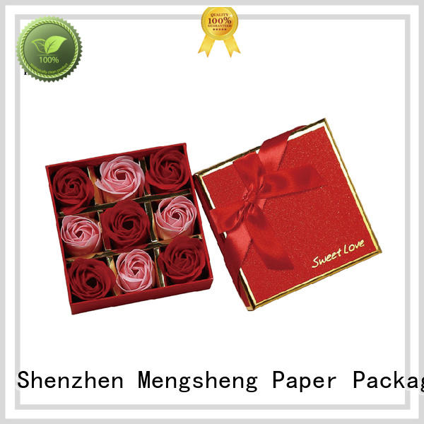 Mengsheng made rose bouquet box at discount for delivery