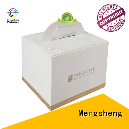 Mengsheng colours cake packaging box ecofriendly at discount