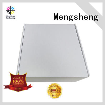 cosmetic packaging boxes for clothes free sample with handle Mengsheng