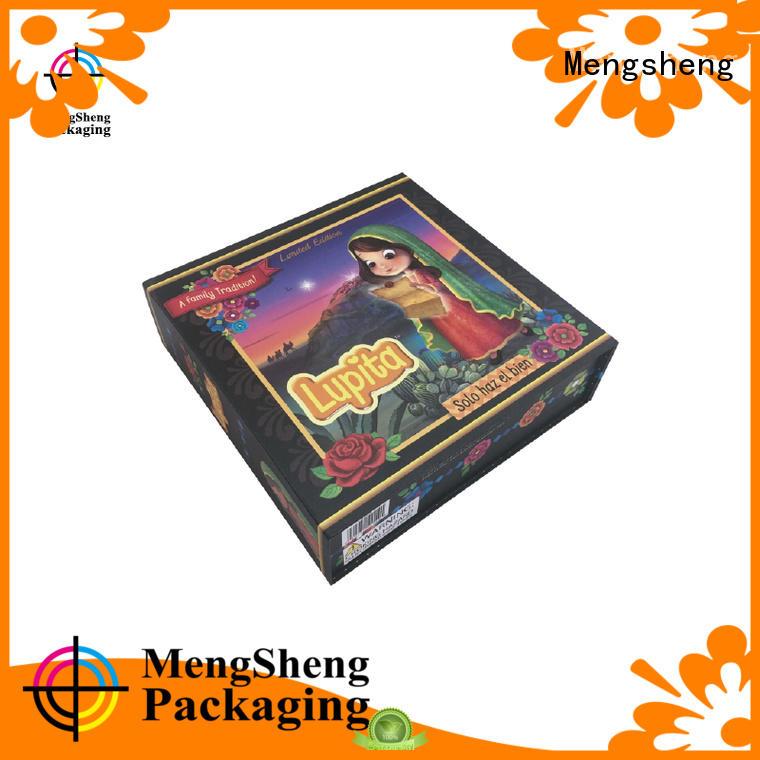 Mengsheng Brand storage gift foldable box luxury factory