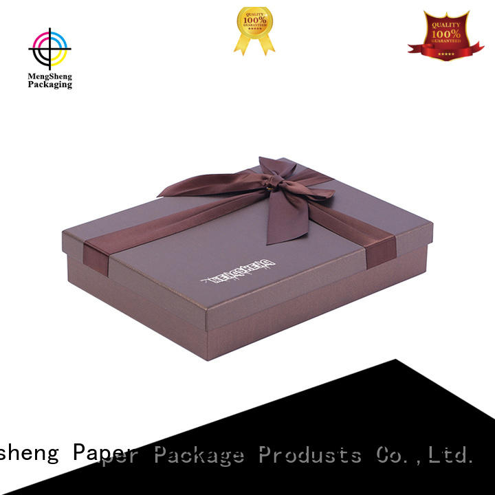Mengsheng Brand luxury box printed cardboard gift boxes manufacture