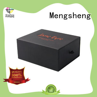 Mengsheng logo printing slidingboxes customized colors free sample