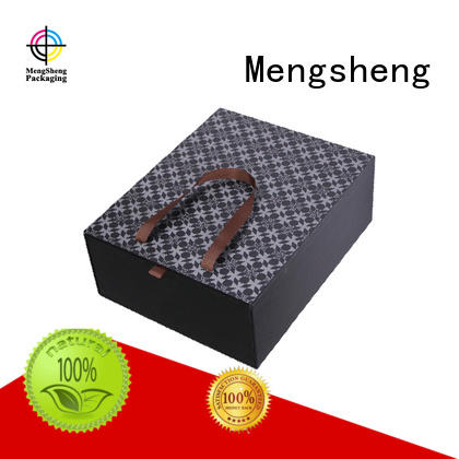 printed boxes handle cardboard gift boxes luxury Mengsheng