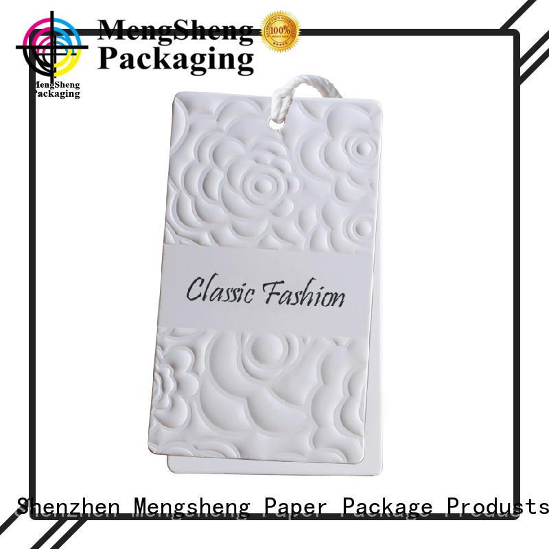 Mengsheng Brand tshirt hang professional brown tags