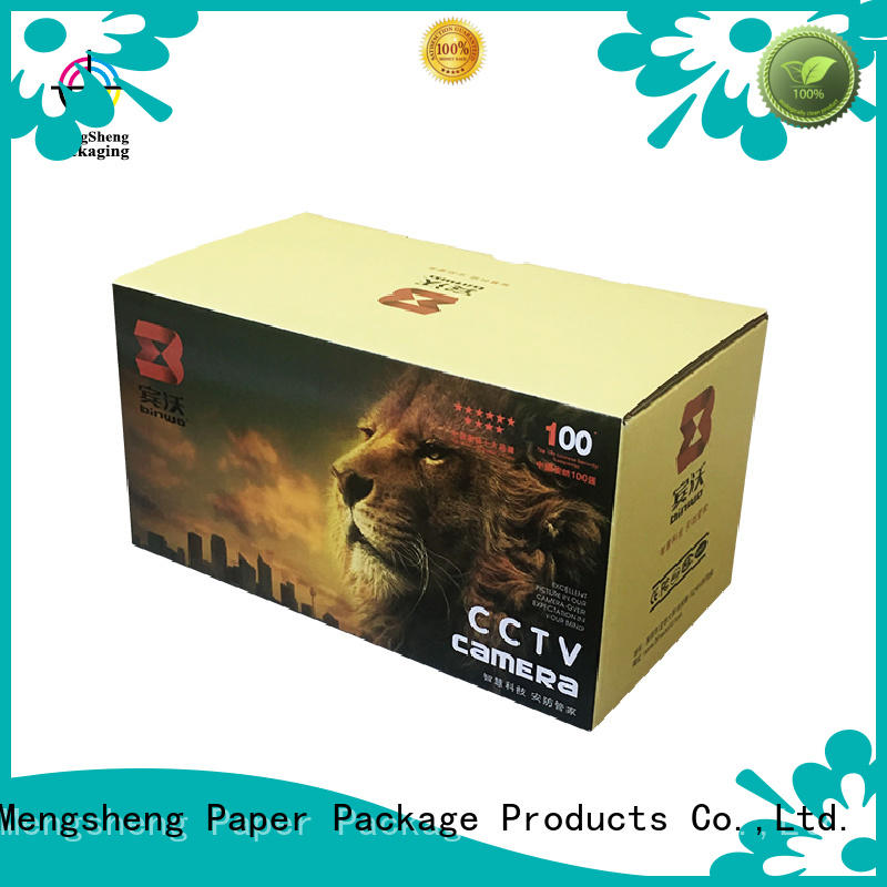 Mengsheng hot-sale cardboard tray box easy closure garment packing