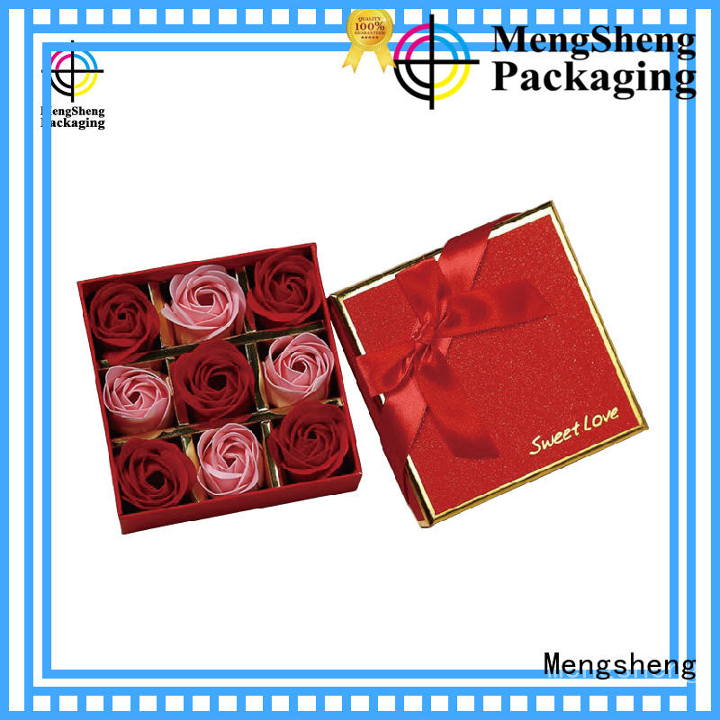 Mengsheng hot-sale floral gift boxes rectangular for shipping