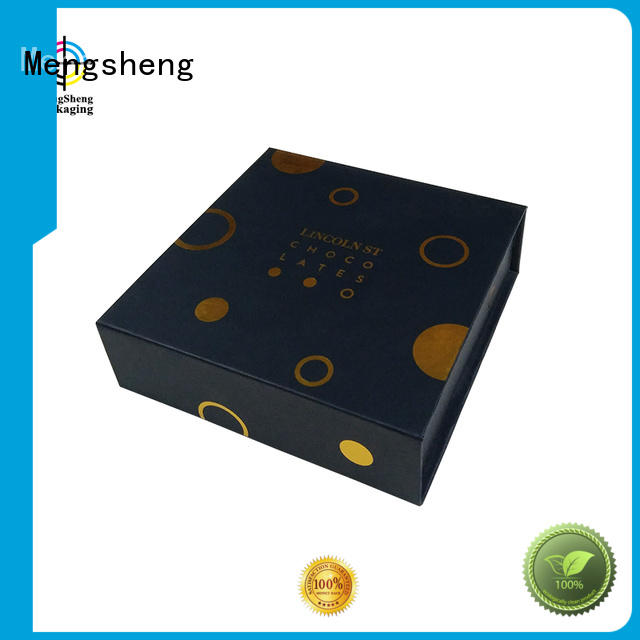 Mengsheng Brand gift orange foam magnet gift box manufacture