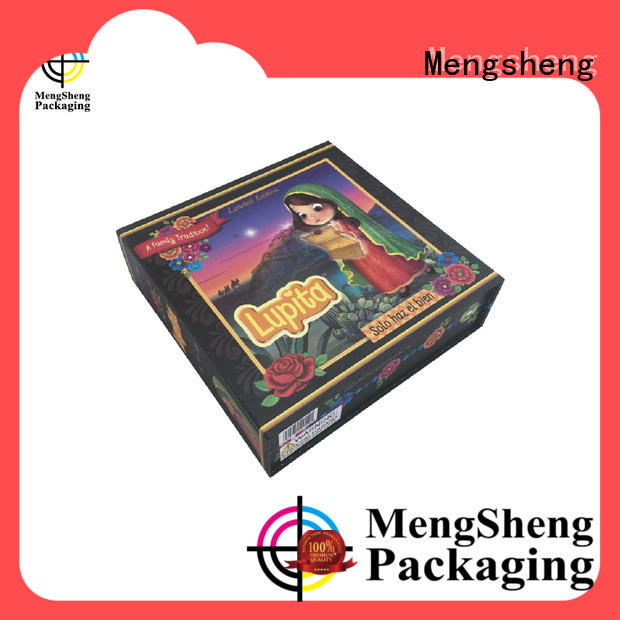 Mengsheng foldable fold flat box logo printed for florist