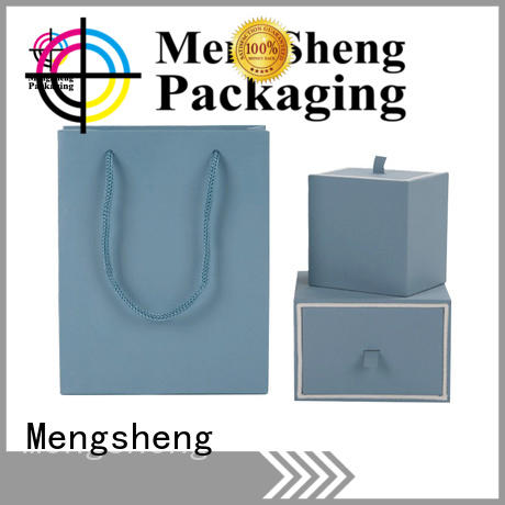 Mengsheng gift cardboard jewelry boxes wholesale clothing packing convenient