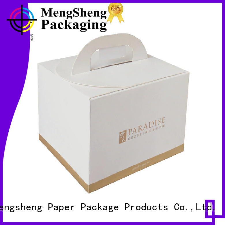 Mengsheng magnetic closure tall cake boxes ecofriendly