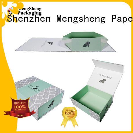 Mengsheng foldable folding packaging boxes waterproof garment packing