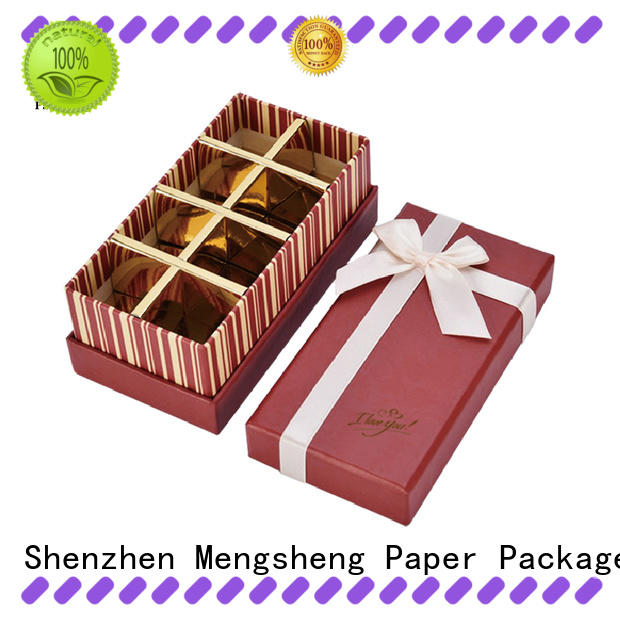 durable chocolate candy box natural kraft paper for packing