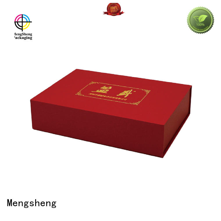 imprinted large cardboard gift boxes ecofriendly at discount Mengsheng