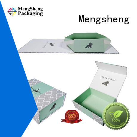 box blue foldable paper box children Mengsheng company
