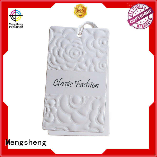 Mengsheng Brand hang professional tag brown tags garment