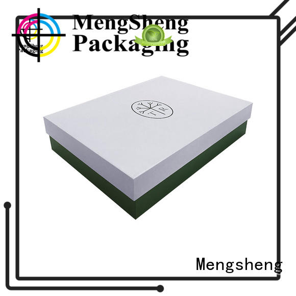 ecofriendly 2 piece gift boxes with lids sturdy jewelry packing Mengsheng