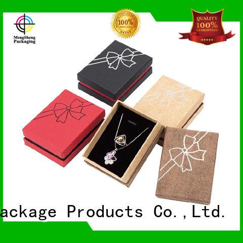 Mengsheng shipping box packaging clothing packing custom design