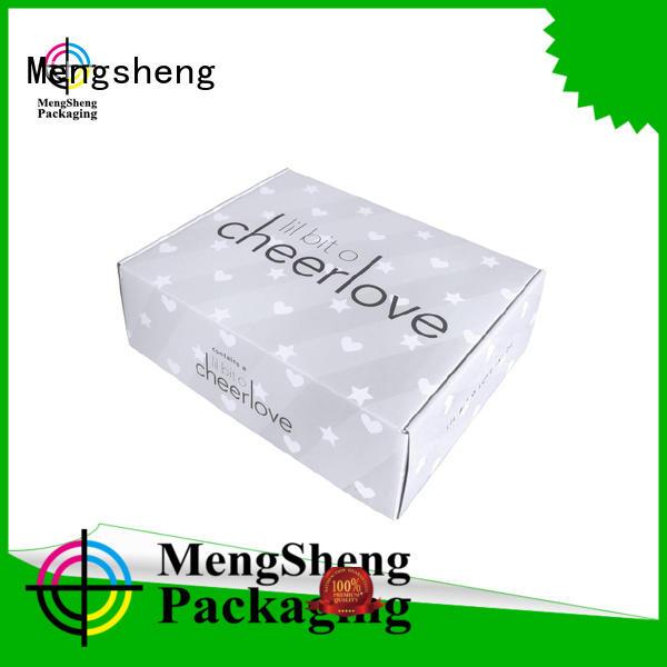 Mengsheng printing cheap corrugated boxes printed cardboard custom design