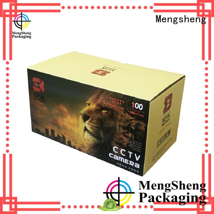 Mengsheng foldable cardboard wine box garment packing