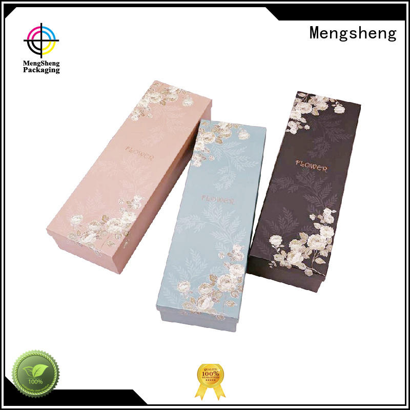 Mengsheng Brand packing box flower gift box rectangular factory