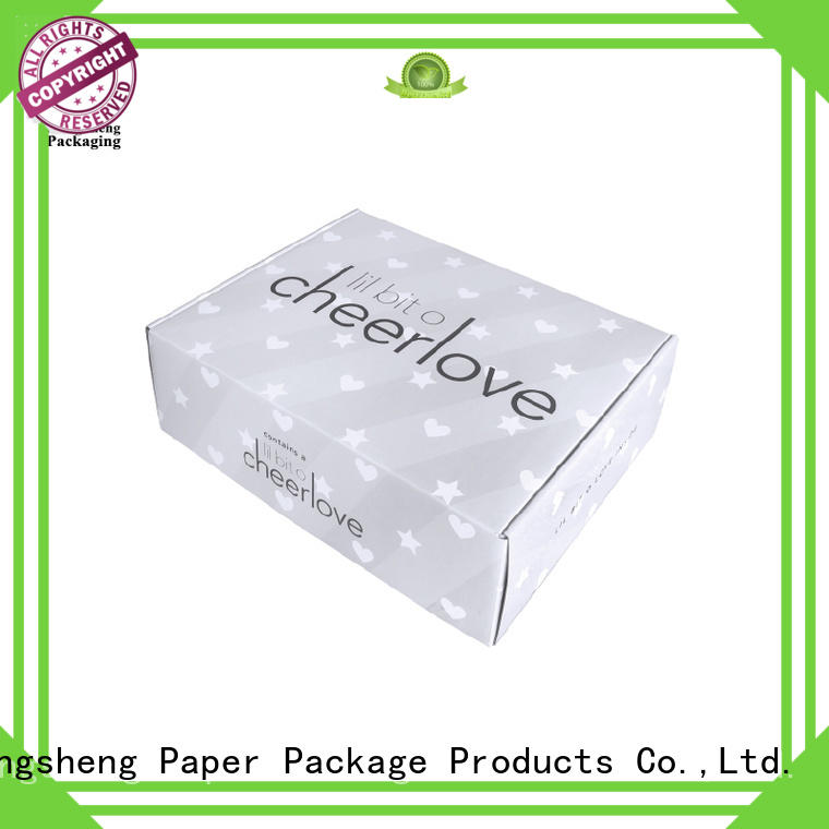 corrugated branded boxes suppliers clothing packing custom design Mengsheng