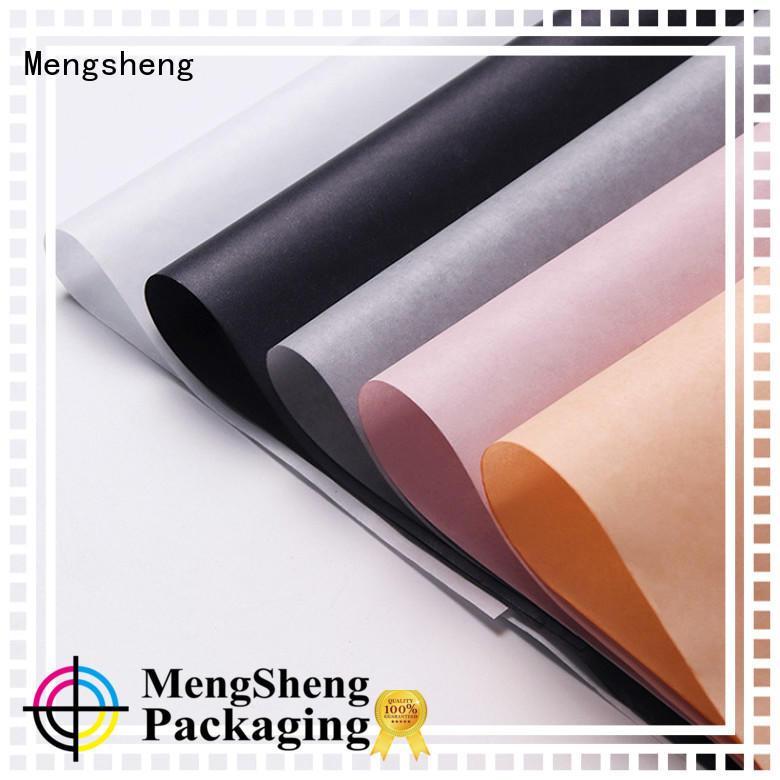 Mengsheng logo printing bulk tissue paper customized colors at discount