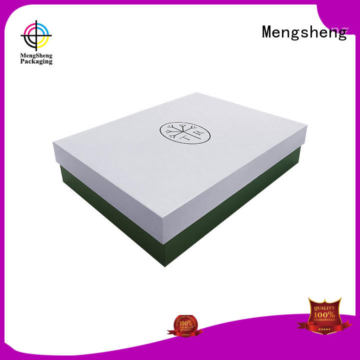 Mengsheng cosmetics packaging cardboard boxes with lids special for wholesale