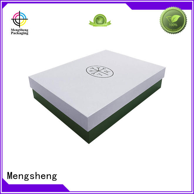stamping 2 piece gift boxes rectangular for wholesale Mengsheng