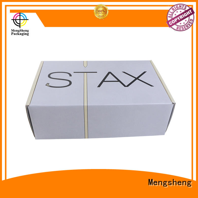 gift Custom cardboard small shipping boxes tuck Mengsheng
