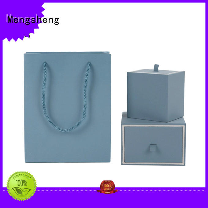specialty insert lid jewelry gift boxes Mengsheng manufacture