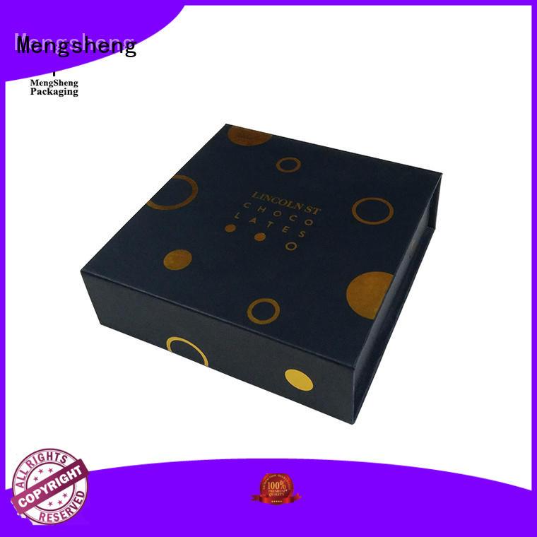 Mengsheng latest magnet gift box corrugated for fruit packaging
