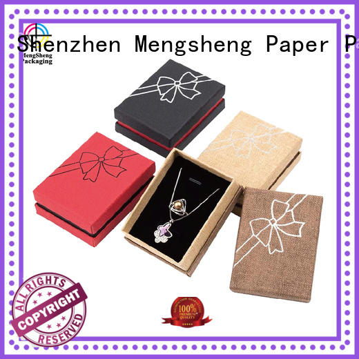 luxury specialty kraft jewelry boxes box drawer Mengsheng company
