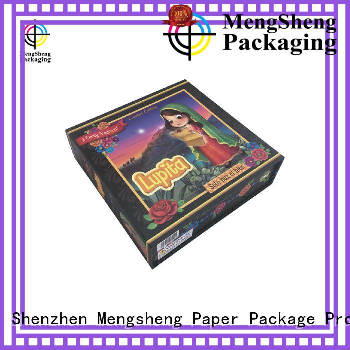 luxury fold over box waterproof swimwear packing Mengsheng