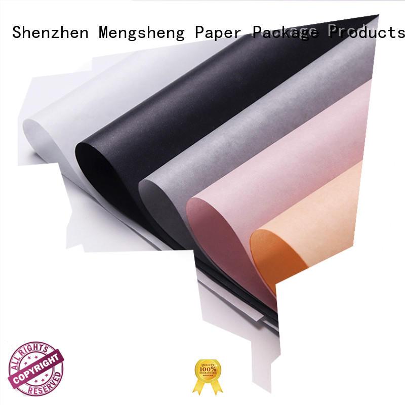 Mengsheng logo bulk tissue paper with lid latest deisgn
