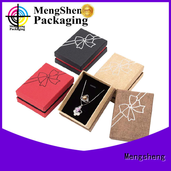 Mengsheng metallic jewellery presentation box custom design
