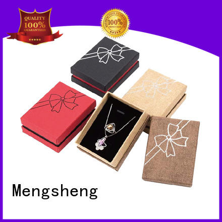 reversable earring gift box suede custom design Mengsheng