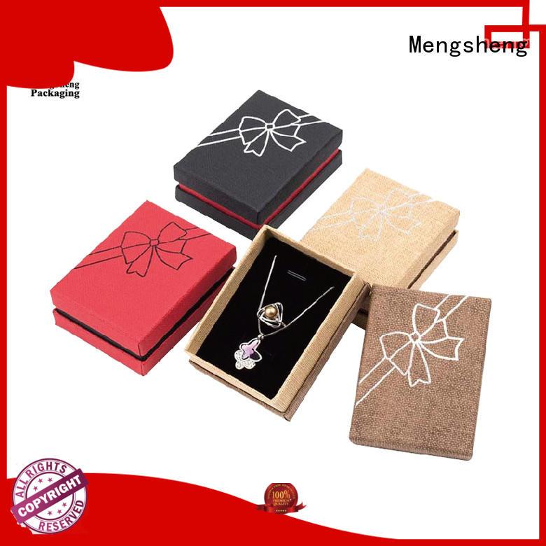 Mengsheng round tube kraft jewelry boxes clothing packing eco friendly