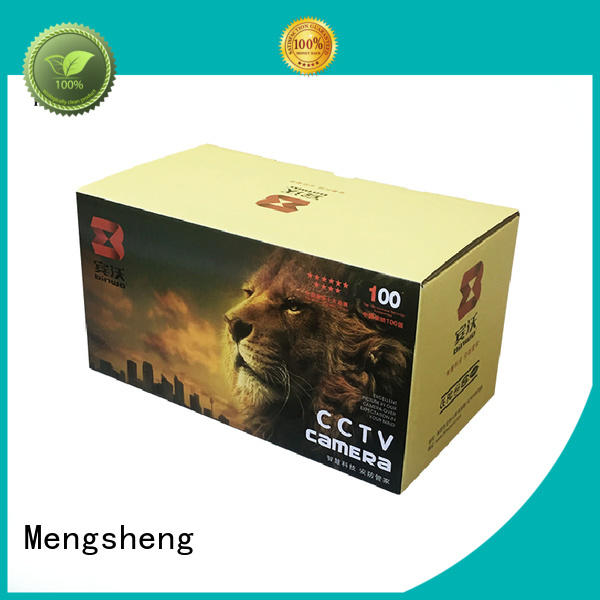 Mengsheng foldable a cardboard box shipping clothing garment packing