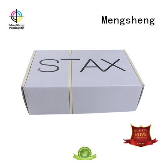 Mengsheng corrugated corrugated mailers clothing packing convenient