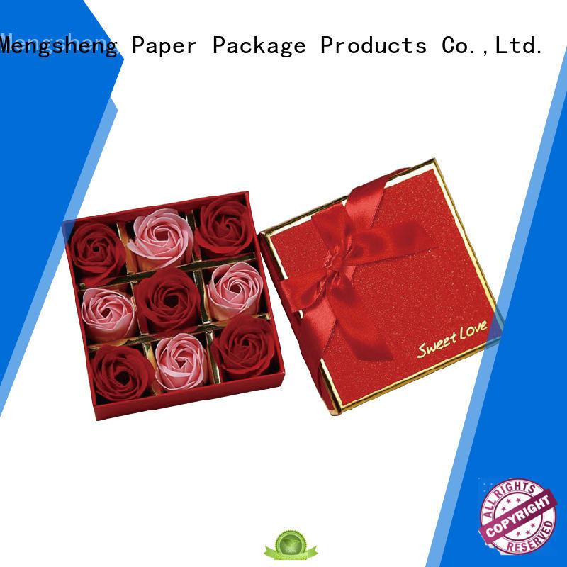 printed florist rose boxes rectangular for delivery Mengsheng