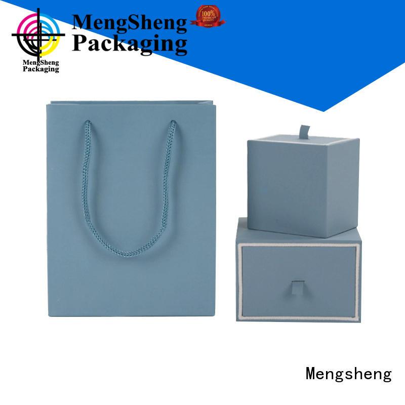 reversable cheap jewelry boxes printed cardboard custom design Mengsheng
